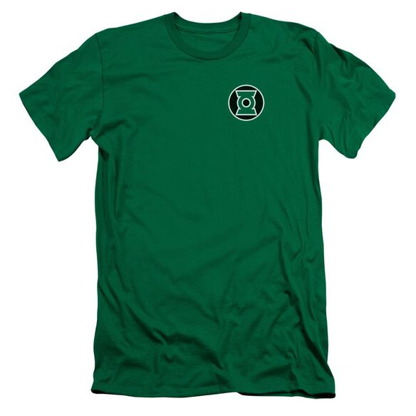 Lantern Kyle Rayner Logo Premuim Canvas Adult Slim Fit Kelly
