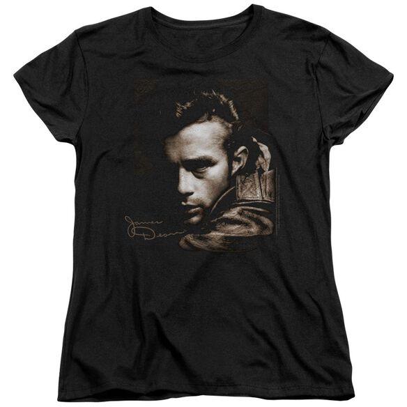Dean Brown Leather Short Sleeve Womens Tee T-Shirt