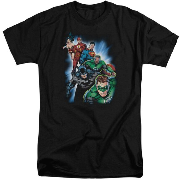 Jla Heroes Unite Short Sleeve Adult Tall T-Shirt