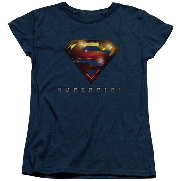 Supergirl Logo Glare Short Sleeve Womens Tee T-Shirt