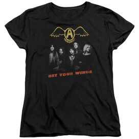 Aerosmith Get Your Wings Short Sleeve Womens Tee T-Shirt