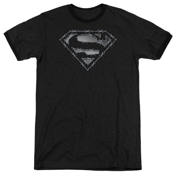Superman Barbed Wire Adult Heather Ringer