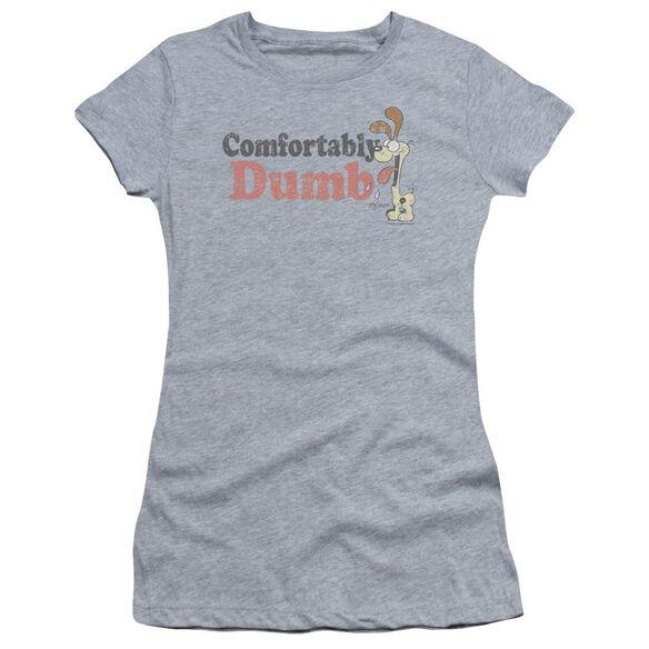 GARFIELD COMFORTABLY DUMB - S/S JUNIOR SHEER - ATHLETIC HEATHER T-Shirt