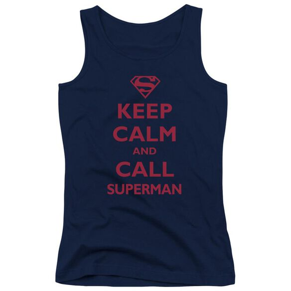 Superman Call Superman Juniors Tank Top