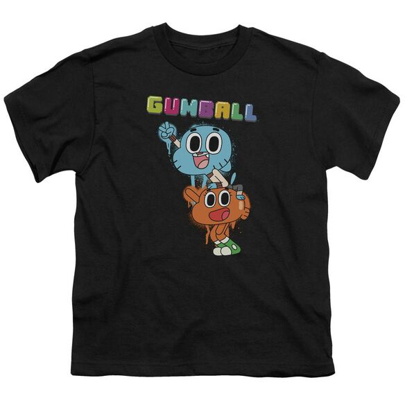 Amazing World Of Gumball Gumball Spray Short Sleeve Youth T-Shirt