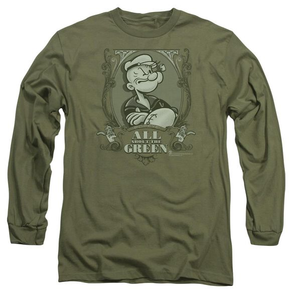 Popeye All About The Long Sleeve Adult Military T-Shirt