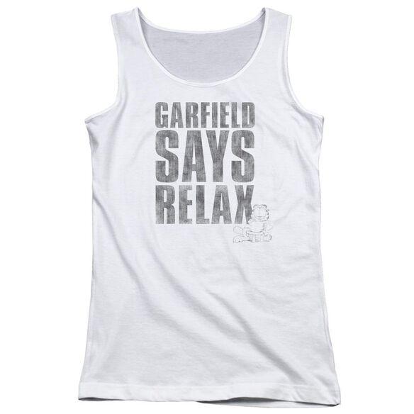 Garfield Relax Juniors Tank Top