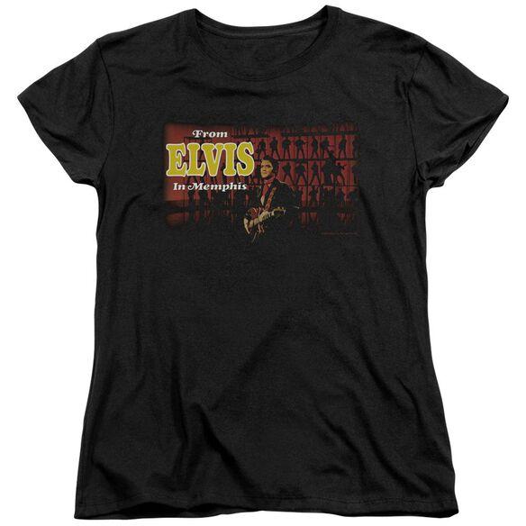 Elvis Presley From Elvis In Memphis Short Sleeve Womens Tee T-Shirt