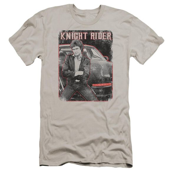 Knight Rider Knight And Kitt Premuim Canvas Adult Slim Fit