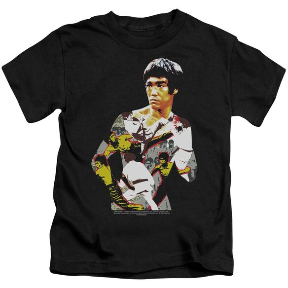 Bruce Lee Body Of Action Short Sleeve Juvenile Black T-Shirt