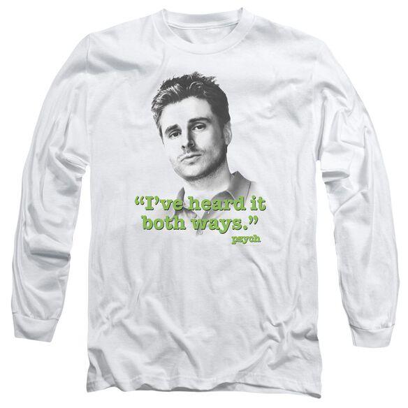 Psych Both Ways Long Sleeve Adult T-Shirt