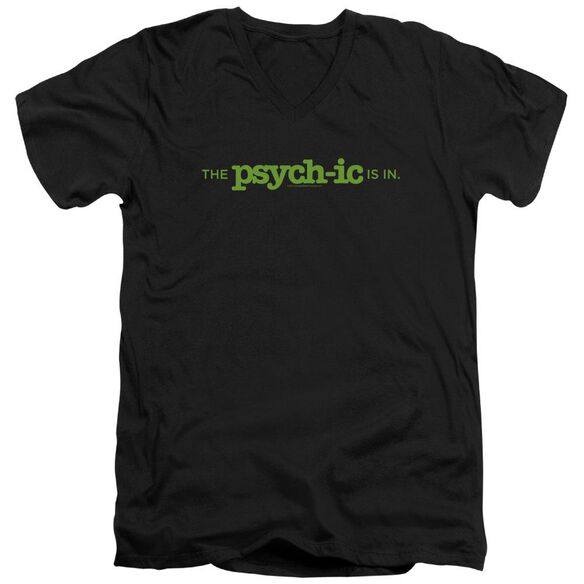 Psych The Psychic Is In Short Sleeve Adult V Neck T-Shirt
