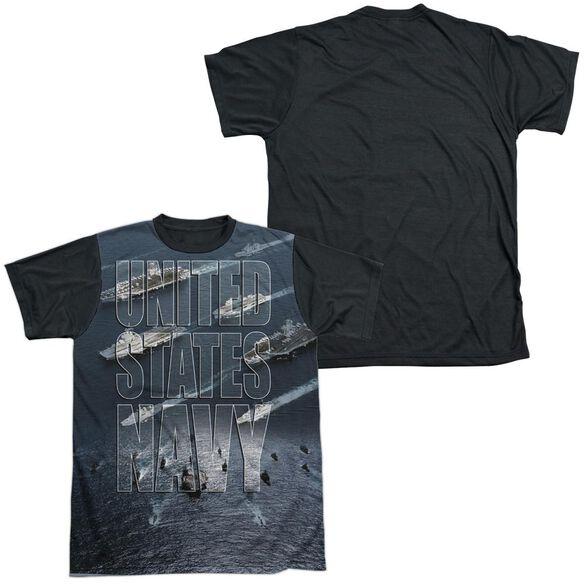 Navy Fleet Short Sleeve Adult Front Black Back T-Shirt