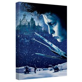 Edward Scissorhands Movie Poster Canvas Wall Art With Back Board