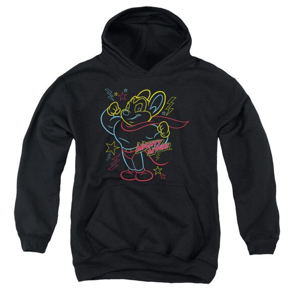 Mighty Mouse Neon Hero Youth Pull Over Hoodie