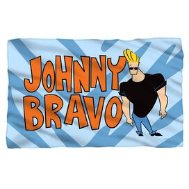 Johnny Bravo Logo Fleece Blanket