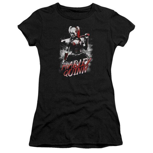 Batman Arkham Knight Quinn City Short Sleeve Junior Sheer T-Shirt