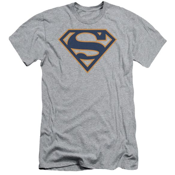 Superman Navy & Orange Shield Short Sleeve Adult Athletic T-Shirt