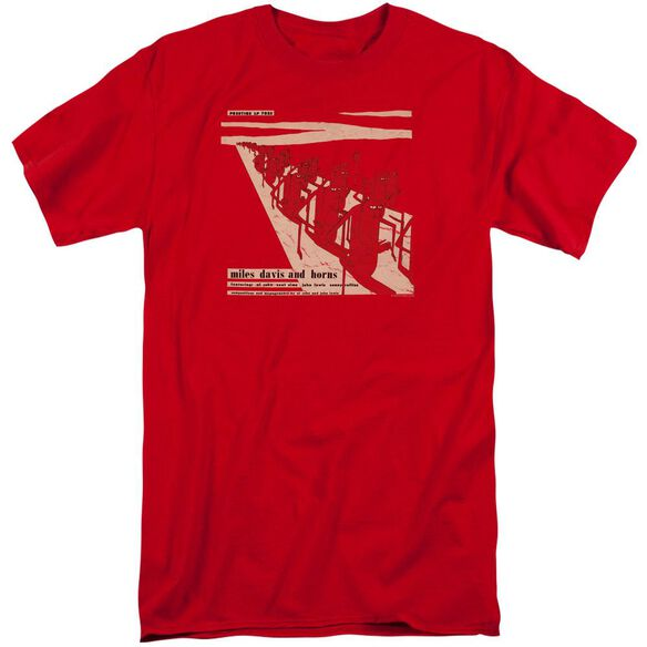 Miles Davis Davis And Horn Short Sleeve Adult Tall T-Shirt
