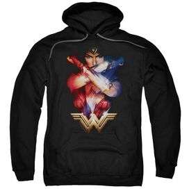 Wonder Woman Movie Arms Crossed Adult Pull Over Hoodie
