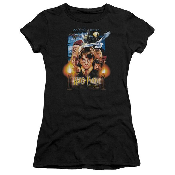 Harry Potter Movie Poster Short Sleeve Junior Sheer T-Shirt