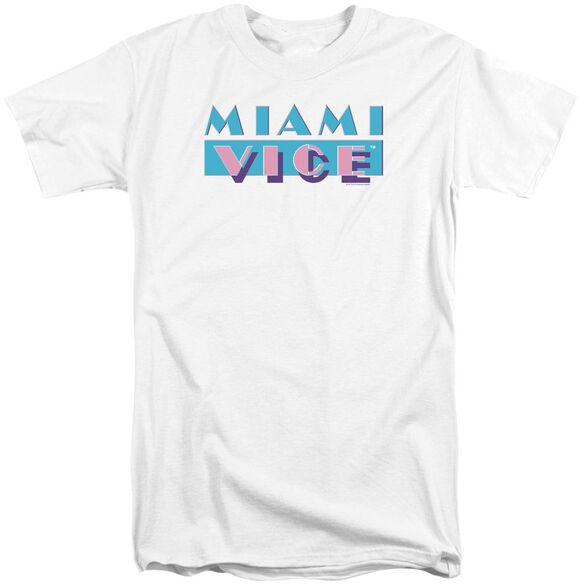 Miami Vice Logo Short Sleeve Adult Tall T-Shirt