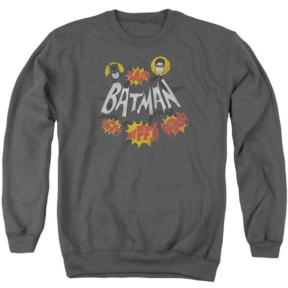 Batman Classic Tv Sound Effects Adult Crewneck Sweatshirt