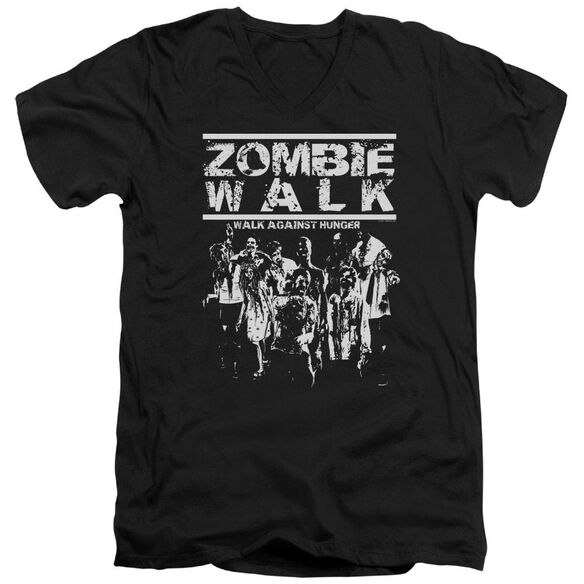 Zombie Walk Short Sleeve Adult V Neck T-Shirt