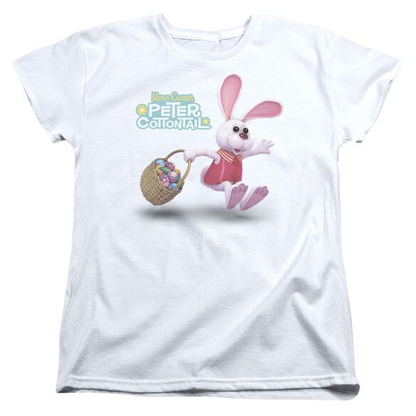 Here Comes Peter Cottontail Hop Around Short Sleeve Womens Tee T-Shirt