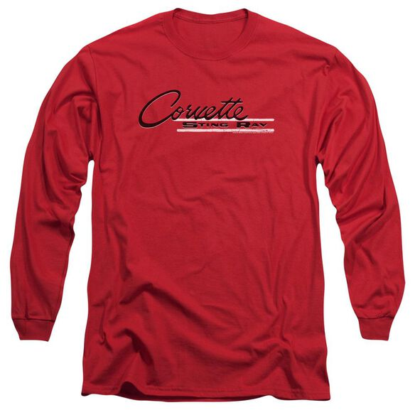 Chevrolet Retro Stingray Long Sleeve Adult T-Shirt