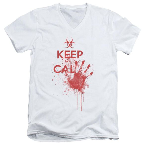 Keep Cal Short Sleeve Adult V Neck T-Shirt