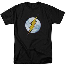 Dc Flash Flash Neon Distress Logo Short Sleeve Adult T-Shirt
