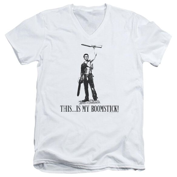 Army Of Darkness Boomstick! Short Sleeve Adult V Neck T-Shirt