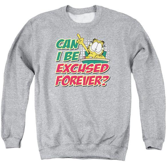 Garfield Excused Forever Adult Crewneck Sweatshirt Athletic