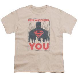 Superman He's Watching You Short Sleeve Youth T-Shirt