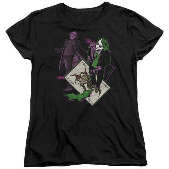 Dark Knight Wild Card Short Sleeve Womens Tee Black T-Shirt