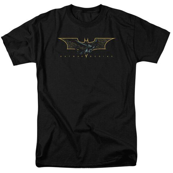 Batman Begins Coming Through Short Sleeve Adult T-Shirt