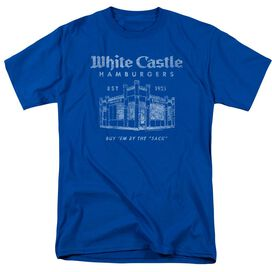 White Castle By The Sack Short Sleeve Adult Royal T-Shirt