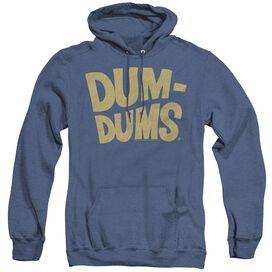 Dum Dums Distressed Logo - Adult Heather Hoodie - Royal Blue