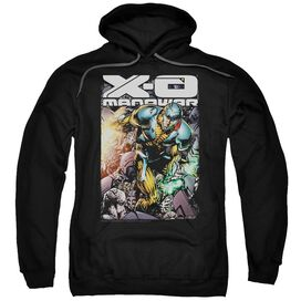 Xo Manowar Pit Adult Pull Over Hoodie Black