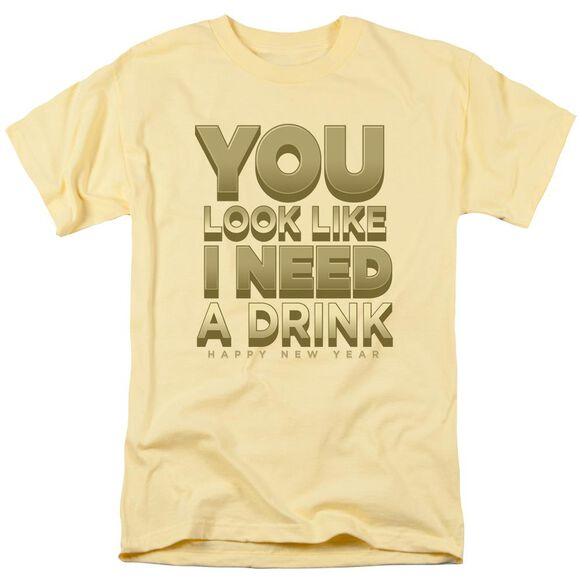 I Need A Drink Short Sleeve Adult Banana T-Shirt
