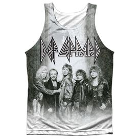 Def Leppard The Band Adult 100% Poly Tank Top