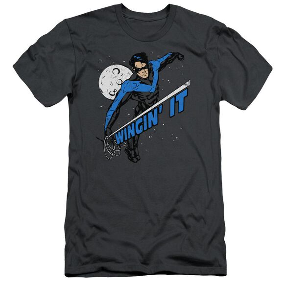 Batman Wingin It Short Sleeve Adult T-Shirt