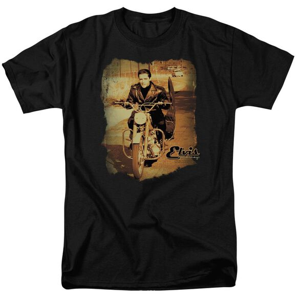 Elvis Hit The Road Short Sleeve Adult T-Shirt