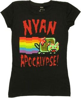 Nyan Cat Apocalypse Baby Tee