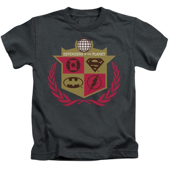 Jla Defenders Short Sleeve Juvenile Charcoal T-Shirt