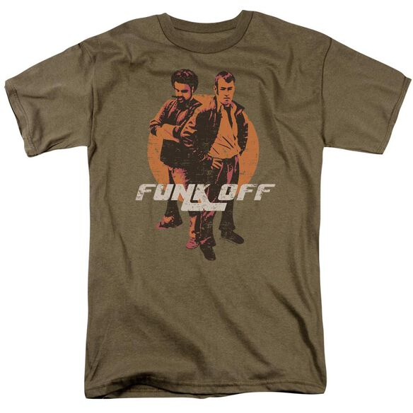 Funk You Short Sleeve Adult Safari Green T-Shirt
