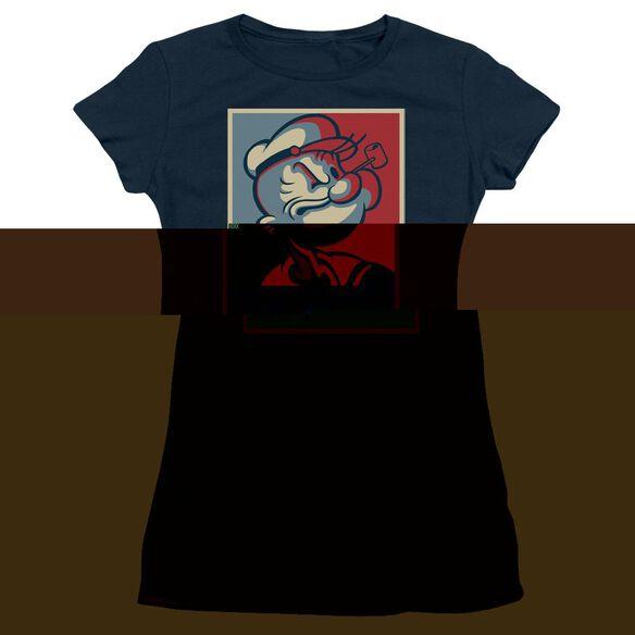 POPEYE STRONG - S/S JUNIOR SHEER - NAVY T-Shirt