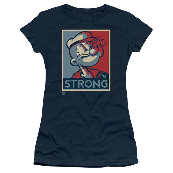Popeye Strong Short Sleeve Junior Sheer T-Shirt