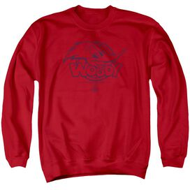 Woody Woodpecker Big Head Adult Crewneck Sweatshirt